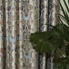 100 Curtains Iyuegou Classic Damask Energy Saving Grommet Top Curtain Draperies