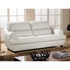 canapé 3 places cuir blanc canapé 3 places en cuir blanc mona achat vente canapé sofa