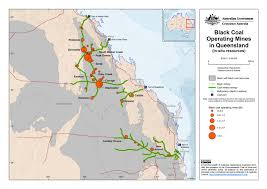 Map Of Queensland Resources Australia U0027s Coal Industry Coal Mines By State