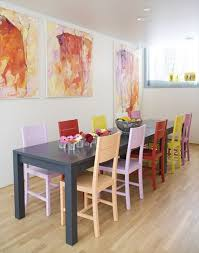 appealing wall motive for dining room with amusing painted dining