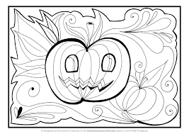 fancy halloween coloring page pdf happy monster at pages eson me