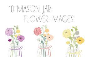 jar flowers jar flower clip vector graphics creative market