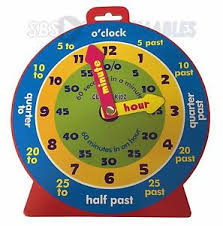 time learning clock 6x childrens teaching clock learning to tell time educational