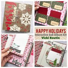 6x8 Album Vicki Boutin Happy Holiday Interactive Album Kit Details