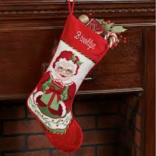 heirloom mrs claus needlepoint christmas stocking