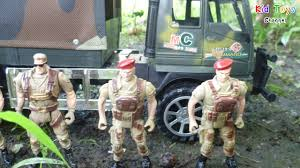 military jeep tan truck military vehicle toy soldiers army men toys for kids youtube