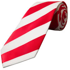 Red White Striped Flag Red And White Stripe Classic Tie Mens Stripe Tie Football Tie