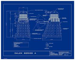 dr who dalek humorous 16x20 limited edition blueprint poster