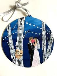 Wedding Ornaments Personalized Personalized Wedding Ornament Unique Wedding Gift Bride Group