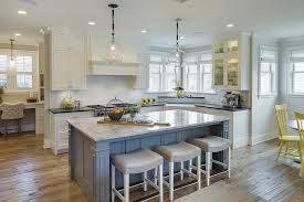 grey kitchen island yellow and gray kitchen with backless stools cottage kitchen