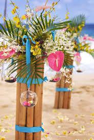 Flower Decor 239 Best Hawaiian Tropical Wedding Vow Renewal Images On Pinterest