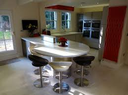 kitchen island breakfast table kitchen curve breakfast bar integrated with kitchen