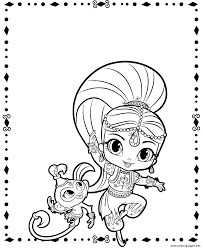 nick jr halloween coloring pages shimmer and pet shimmer and shine coloring pages printable
