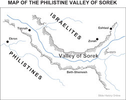 Ancient Mesopotamia Map Map Of The Philistine Valley Of Sorek Bible History Online
