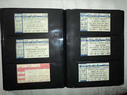 ticket stub album what s your stub story aural addict