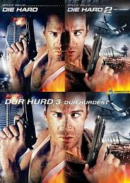 Die Hard Meme - putting the die hard covers together and you get meme guy