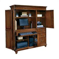 Wood Computer Armoire Computer Armoires Easy Home Concepts