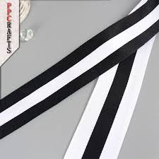 black and white striped ribbon ppcrafts 10 15 20 25 40mm black white stripes ribbon webbing for