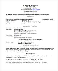 Student Internship Resume Template 23 Engineering Resume Templates In Pdf Free U0026 Premium Templates