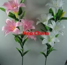 Silk Flowers Wholesale Wholesale 6 Head Silk Lily Flowers High 100cm Wedding Bouquets