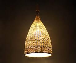 Bamboo Ceiling Light Flared Bamboo Pendant Lights Bamboo Ceiling Lighting Bamboo