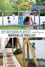 diy outdoor playset materials u0026 tools list created by v
