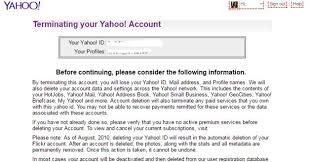 Yahoo Help Desk How To Delete Your Yahoo Mail Account