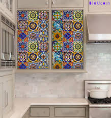 stunning tile decals for kitchen backsplash including fancy fix