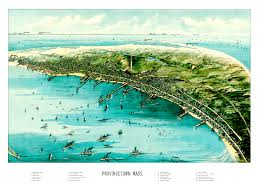 vintage map of provincetown massachusetts from 1910 knowol