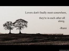 Rumi Memes - lovers don t finally meet somewhere they re in each other all