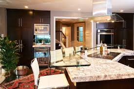 glass kitchen island counter height glass kitchen modern with pass through coasters
