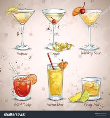 cocktail set new era drinks cocktail set stock vector 376506430 shutterstock