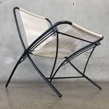Metal Folding Patio Chairs by Vintage Mid Century Tubular Steel Folding Patio Chairs
