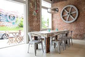 dining table with metal chairs farm table with metal chairs home ideas pinterest coffe bar