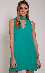 cinder bottle green cut out neck shift dress pltcyberparty