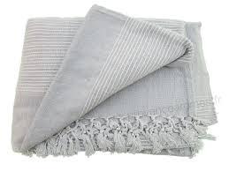 jeté de canapé gris perle tenture kérala plaid couvre lit gris provence arômes tendance sud