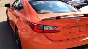 rcf lexus orange 2015 lexus rcf orange flare arrives at lexus of edmonton youtube