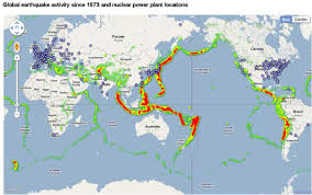 Global Time Zone Map by Earthquake Zones And Nuclear Power Plants U2013 A Clarion Call