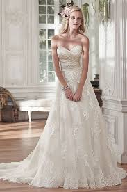 a line wedding dress picture of lace and tulle a line wedding dress with an