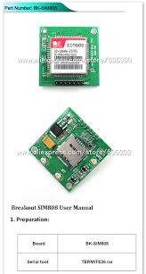 aliexpress com buy gsm gps sim808 breakout board sim808 core
