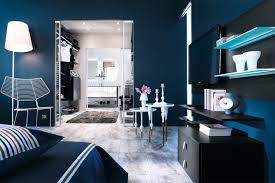 chambre gris bleu une déferlante de bleu dans la déco maison créative