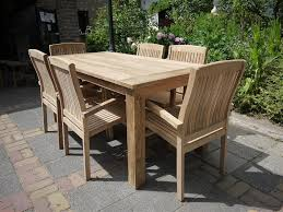 Teak Garden Table Teak Garden Table 180 X 90 Cm Reclaimed Teak Furniture