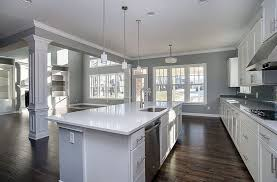 kitchen painted gray with white cabinets white kitchen with gray island design ideas designing idea
