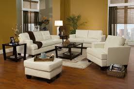 leather sofa set for living room samuel sofa u0026 loveseat cream leatherette 501691 by coaster