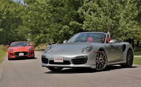 2014 porsche 911 turbo s price 2014 porsche 911 turbo s cab vs 2014 jaguar f type v8 s car reviews