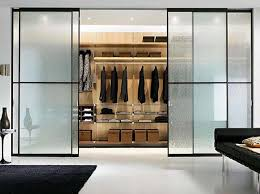 Tempered Glass Closet Doors Fantastic Modern Glass Closet Doors With Top 25 Best Sliding