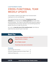 cross functional weekly update lucid meetings