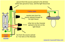 diagram of wiring a light switch