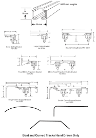 Universal Curtain Track Product Specifications For Blinds Oslo Blinds Online Nz