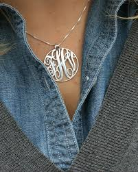 monogrammed necklace sterling silver get your own sterling silver monogram necklace for less than 35